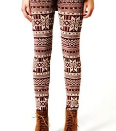 2aa9a98b5 Tribal Aztec Print Snowflake Christmas Leggings - Snowflake Christmas  Leggings for Girls Sweaters And Leggings