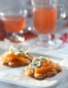 Sinihomejuusto-persimonpiparit