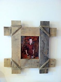 Pallet wood picture frame reclaimed pallet decor