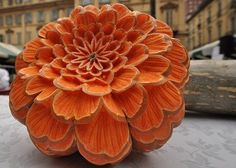 Amazing Pumpkin Carvings Featuring Flowers!