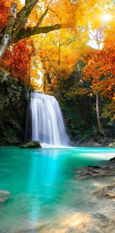 20 Most Beautiful Waterfalls on Earth Deep forest Waterfall, Thailand Beautiful World, Beautiful Places, Beautiful Pictures, Beautiful Scenery, Wonderful Places, Beautiful Waterfalls, Beautiful Landscapes, Famous Waterfalls, Landscape Photography