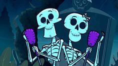 Para hablar de las partes del cuerpo_ LOS ALEGRES ESQUELETOS, el baile de los esqueletos, canciones infantiles