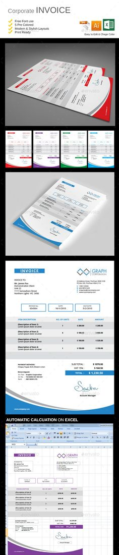 Professional Invoice Template, Business proposal and Proposal