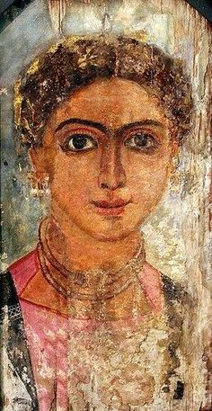 Fayum Portrait of a Girl. Fayium Oasis AS Ancient Egyptian Art, Ancient History, Art History, Egypt Mummy, Egyptian Mummies, Egypt Art, Roman Art, Encaustic Painting, Ancient Artifacts