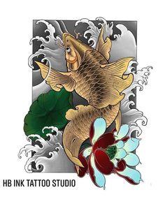 Japanese Koi Fish Tattoo, Japanese Tattoo Designs, Bear Paw Tattoos, Fish Tattoos, Koi Tattoo Design, Japan Tattoo, Oriental Tattoo, Bear Paws, Oriental Design