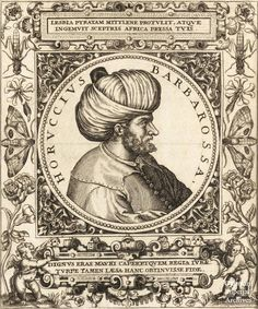 A wooden rotogravure from the 1500's of Barbaros Hayreddin Pasha, Grand Admiral of the Ottoman Sultanate.