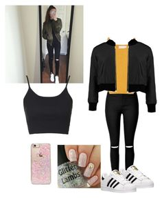 """""""Ayee"""" by fashionparadiseee ❤ liked on Polyvore featuring Topshop, adidas and Skinnydip"""