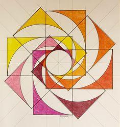 Geometric Quilt, Geometric Drawing, Geometric Shapes, Hyperbolic Geometry, Symmetry Design, Architecture Concept Drawings, Sacred Geometry Art, Math Art, Teaching Art