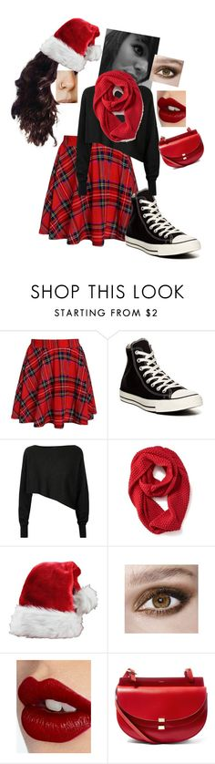"""""""Hipster Christmas"""" by wurth-ariana-is-awesome ❤ liked on Polyvore featuring Converse, Crea Concept, Old Navy, Charlotte Tilbury and Chloé"""
