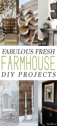 We have some fun and Fabulous Farmhouse Fresh DIY Projects for you today…from Wonderful Wall Art to Incredible Accessories…to Farmhouse Style DIY Furniture!  You are going to totally enjoy this collection and I have a feeling that you will find your next weekend DIY Project right here!  So sit back my friends…pour yourself a perfect …