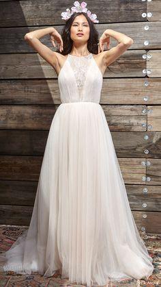 ivy aster bridal spring 2017 sleeveless halter neck ball gown wedding dress (rosie) mv