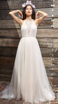 IVY & ASTER bridal spring 2017 sleeveless halter neck ball gown wedding dress (rosie) mv #bridal #wedding #weddingdress #weddinggown #bridalgown #dreamgown #dreamdress #engaged #inspiration #bridalinspiration #weddinginspiration #weddingdresses