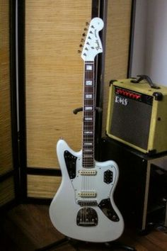 . Fender Jaguar, Cool Guitar, Recording Studio, Acoustic, Guitars, Bass, Instruments, Music, Musica