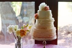 Rachel and Joe's pink ombre cake by Forget Me Not Cakes