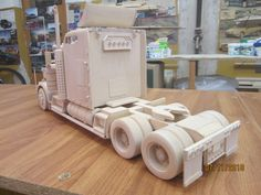 Wooden models Wooden Toy Trucks, Wooden Car, Wooden Toys, Tools And Equipment, Lithuania, Models, Carpentry, Wooden Truck, Dump Trailers