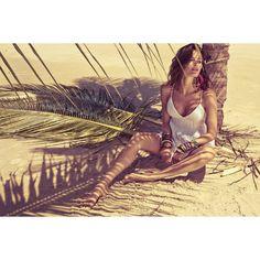 Isabeli Fontana Caroline Trentini for Morena Rosa Spring 2012 Campaign... ❤ liked on Polyvore