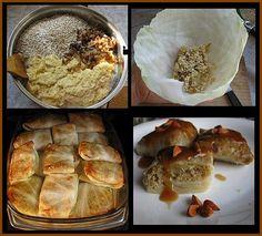 VEGAN Ukraińskie gołąbki z surowych ziemniaków i kaszy jęczmiennej