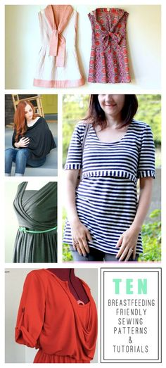 Ten Breastfeeding Friendly Sewing Patterns and Tutorials. (I won't be sewing, but I will accept these from others. Sewing Patterns Free, Free Sewing, Clothing Patterns, Sewing Tips, Sewing Projects, Blouse Patterns, Skirt Patterns, Coat Patterns, Sewing Ideas