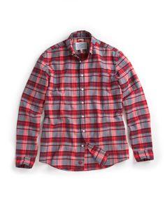 Mens Shirt, Red Check ADLEY