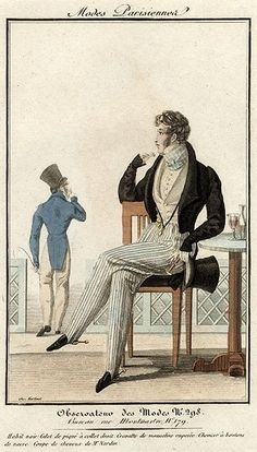 Modes Parisiennes 1823. Regency fashion plate.