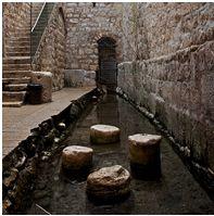 The Pool of Siloam in Jerusalem, where Jesus healed a blind man (John 9:1-4).