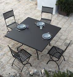Mobilier de jardin en aluminium gamme hyba alu 152 - Chaise pliante solide ...