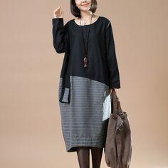 Casual Woolen Loose Autumn Dress