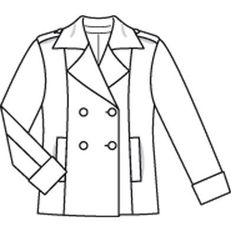 Куртка - выкройка № 102 из журнала 8/2009 Burda – выкройки курток на Burdastyle.ru