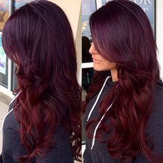 wine purple color hair - Google Search
