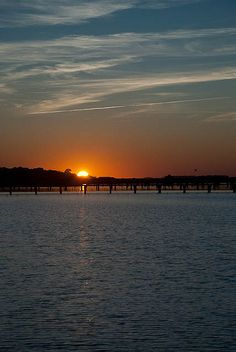 Folly Beach sunset.