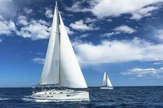 Sailboats participate in sailing regatta. Sailing. Yachting. Stock Images