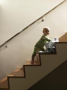 Wider steps are safer.