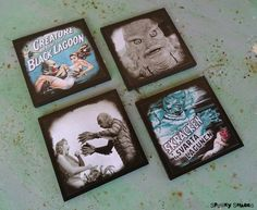 Creature From The Black Lagoon set of 4 coasters by Spooky Shades