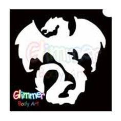Glimmer Body Art Glitter Tattoos - Gothic Dragon 1 (10/pack) by Glimmer Body Art. $5.88. Glimmer Body Arts Glitter Tattoos are non-latex, hypoallergenic and meet all cosmetic grade safety standards. Glitter Tattoos should not be applied to the face or eyes and stencils should be used only once.. Glimmer Body Art Glitter Tattoos are so easy to use that even a beginner can create amazing looking glitter tattoos in minutes. Glimmer Body Art Gothic Dragon 1 Glitter Tatto...