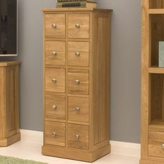 contempo oak chest of drawers