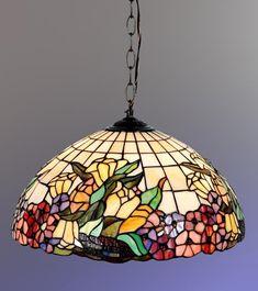 Beautiful Floral Tiffany Style Hanging Lamp.... - http://centophobe.com/beautiful-floral-tiffany-style-hanging-lamp/ -