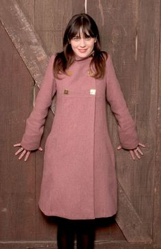 Zooey Deschanel Love this coat!!! And she's so totally awesome!