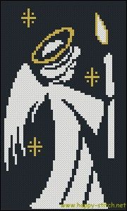 Little angel with a candle #free #crossstitch pattern » Happy Stitch