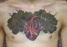creative chest tree of life tattoo - Design of Tattoos