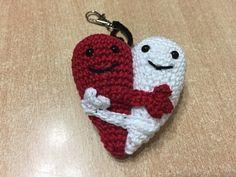 Tuto amigurumi coeur entrelacé au crochet spécial gaucher - YouTube