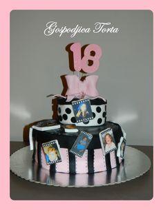 18th Birthday Cake! Love the idea of photos!!