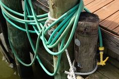 Hoses can easily become a tangled, mangled mess.