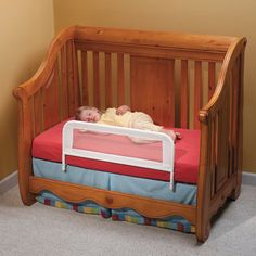 KidCo Mesh Convertible Crib Bed Rail-might need this neat gadget when we transition into the big girl bed!