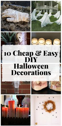 Absolutely love these easy DIY Halloween Decoration Ideas! So simple anyone can do it!