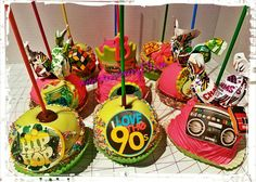 90's themed caramel and chocolate covered apples!!!