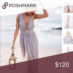 Sabo skirt isla dress Greyish lavender dress , supee cute , sold out everywhere , worn once, fits more like a medium/small Sabo Skirt Dresses Wedding