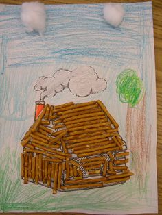 studying Abraham Lincoln- create sheet with Lincoln facts. Or make a poster....with cabin at bottom