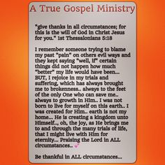 #atruegospelministry #thanksgiving