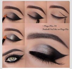 Eye Makeup Tips.Smokey Eye Makeup Tips - For a Catchy and Impressive Look Makeup Hacks, Makeup Tips, Beauty Makeup, Makeup Ideas, Makeup Trends, Makeup Lessons, Hair Beauty, Makeup Inspo, Makeup Geek