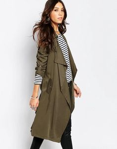 Trench Kaki, Green Trench Coat, Trench Coat Outfit, Fashion Mumblr, Fashion Outfits, Travel Outfits, Winter Coats Women, Coats For Women, Outfits